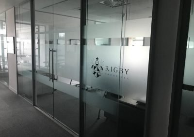 office partitioning service installed for a Birmingham client